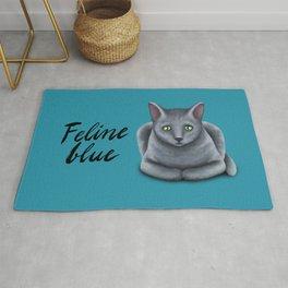 Feline blue Rug