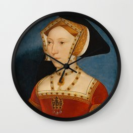 """Hans Holbein the Younger """"Jane Seymour, Queen of England"""" Wall Clock"""