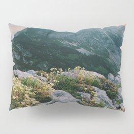 Mountain flowers at sunrise Pillow Sham