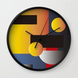 Modern geometric abstract 10 Wall Clock