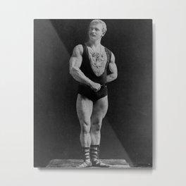 Vintage Bodybuilding Sandow Pose Metal Print