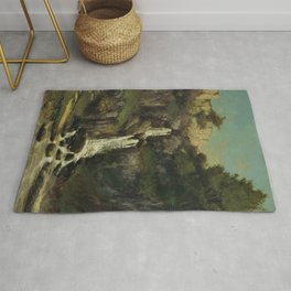 "Gustave Courbet ""La cascade (The waterfall)"" Rug"