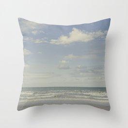 Welsh seascape Throw Pillow
