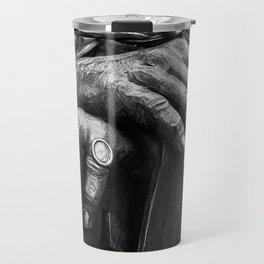 Hands of Wisdom - Black & White Travel Mug