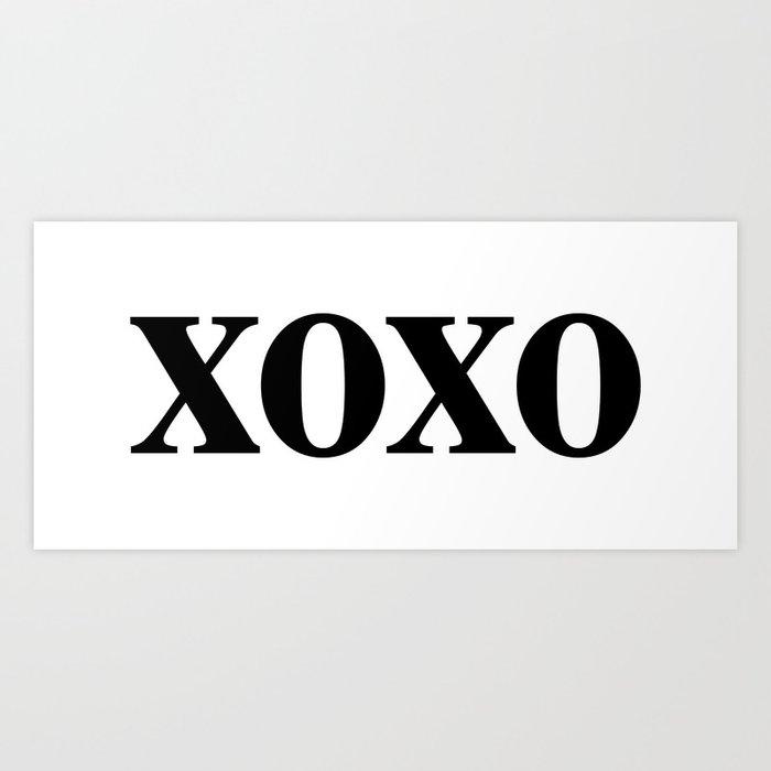 Black XOXO Kunstdrucke