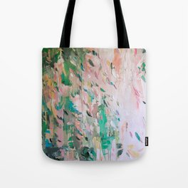 Abstract - emerald green & pink Tote Bag