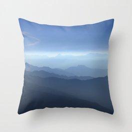 Blue dreams II. Misty mountains Throw Pillow