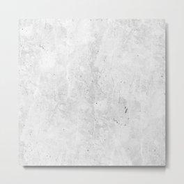 White Light Gray Concrete Metal Print