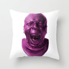 CHARACTER HEAD NO. 5 (yawning) Throw Pillow