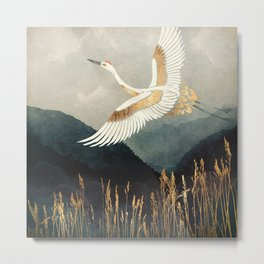 Elegant Flight Metal Print