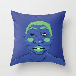 BLUE (SHADES OF BLACK) Throw Pillow