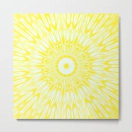 The Sun : Kaleidoscope Mandala Metal Print