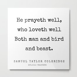 97      | Samuel Taylor Coleridge Poems | 200207 Metal Print