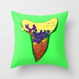 Shark Tooth Terrarium 6 Throw Pillow