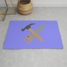 Hammer and saw   Rug