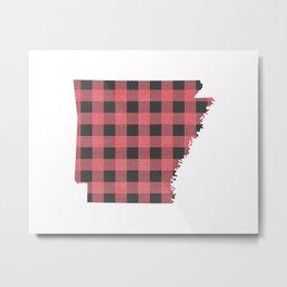 Arkansas Plaid in Pink Metal Print