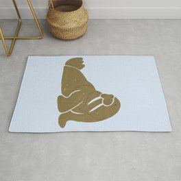 W is for Walrus (text free) Rug
