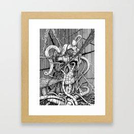 de hypterion I - The guardian - skull Framed Art Print