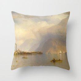 Samuel Colman - Storm King on the Hudson Throw Pillow