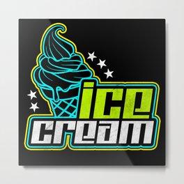 Ice Cream Metal Print