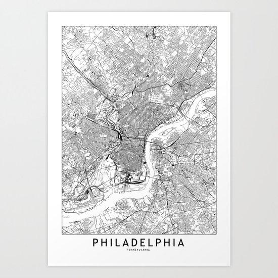 Philadelphia White Map by multiplicity