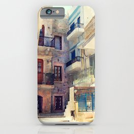 Kalymnos Greek Island architecture iPhone Case