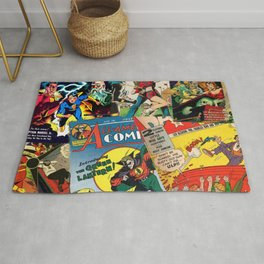 Comics Collage Rug