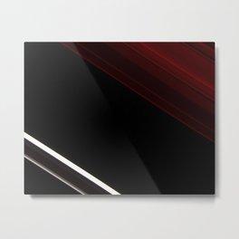 lines oblique stripes red black white Metal Print