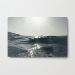 Sea surface movement at Fistral Beach, Newquay Metal Print