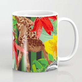 Wild Animals Jungle Pattern Coffee Mug