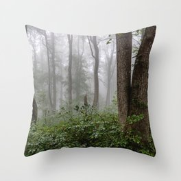 Smoky Mountain Summer Forest III - National Park Nature Photography Throw Pillow