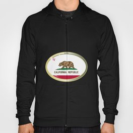 California State Flag Oval Button Hoody