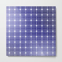 In charge / 3D render of solar panel texture Metal Print