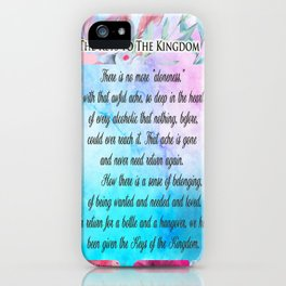 Keys to the Kingdom Alcoholics Anonymous Big Book iPhone Case