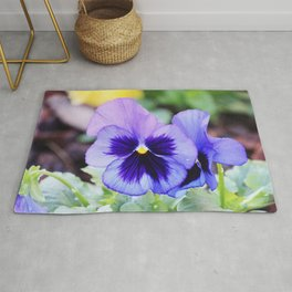 Purple flower Rug
