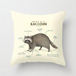 Anatomy of a Raccoon Throw Pillow