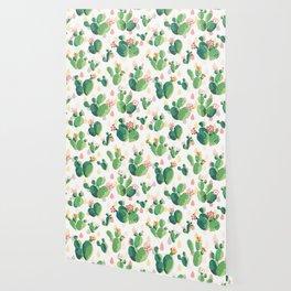Cactus pattern Wallpaper