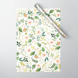 Botanical Spring Flowers Wrapping Paper