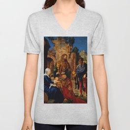 """Albrecht Dürer """"Adoration of the Magi"""" Unisex V-Neck"""