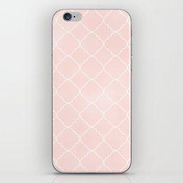 Blush Pink Coral Moroccan iPhone Skin
