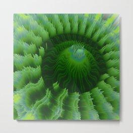 """Random 3D No. 71 """"Green vortexed conus"""" Metal Print"""