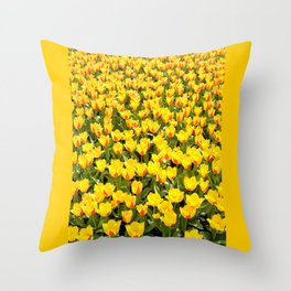 Plenty red and yellow Stresa tulips Throw Pillow