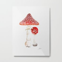 Mushroom Fly agaric Metal Print