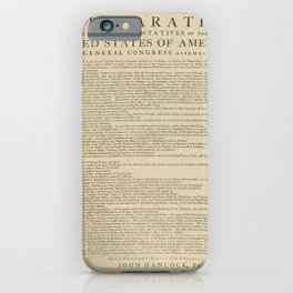 United States Declaration of Independence (Dunlap Broadside Print Copy, 1776) iPhone Case