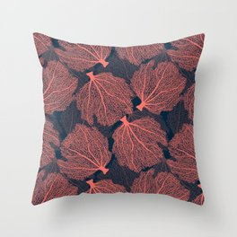 Fan living coral Throw Pillow