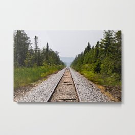 Railroad, Stay Your Course. Metal Print