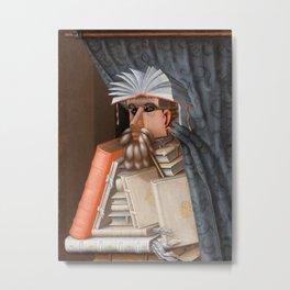 Giuseppe Arcimboldo - The Librarian Metal Print