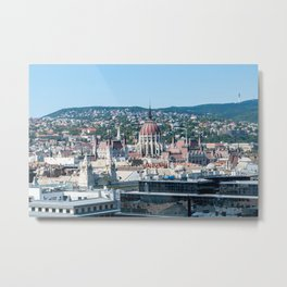 Hungarian Parliament from St. Stephen's Basilica - Budapest Metal Print