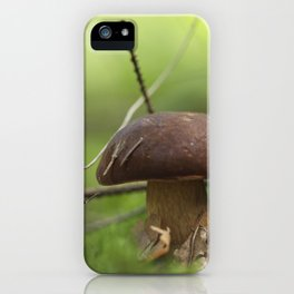 Mushroom time in the forest iPhone Case