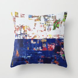 Myth Modern Art Blue Throw Pillow